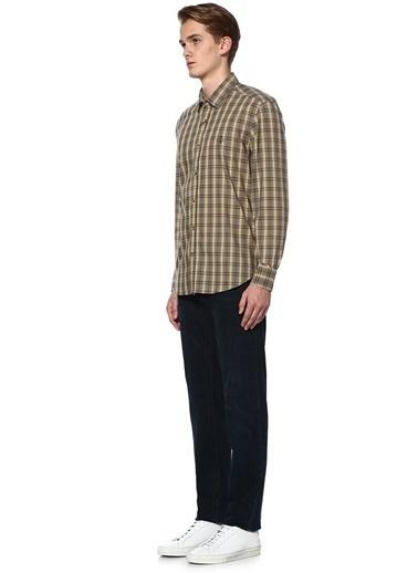 Beymen Club Ekose Desenli İngiliz Yaka Uzun Kollu Gömlek Hardal